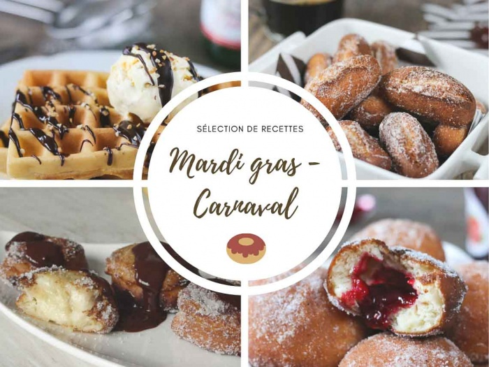 Sélection de recettes pour mardi gras - Beignets Gaufres Donuts