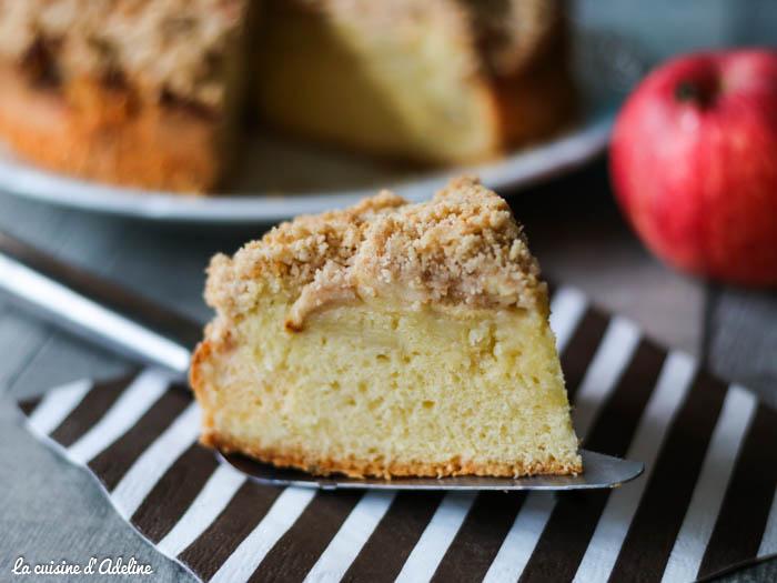 Crumb cake aux pommes (gâteau pommes et crumble)