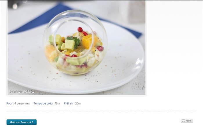 Imprimer une recette - La Cuisine d'Adeline - Nouveautés 2017