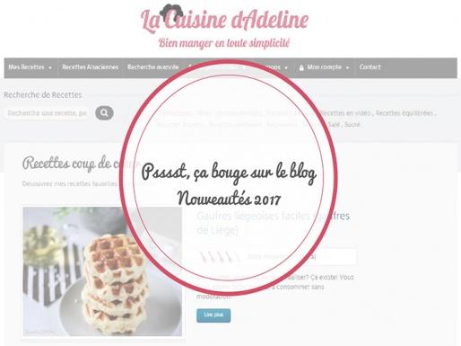 Nouveautés 2017 - La Cuisine d'Adeline