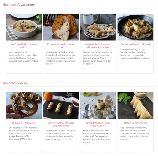 N0ouvelles rubrique page d'accueil - La Cuisine d'Adeline - Nouveautés 2017