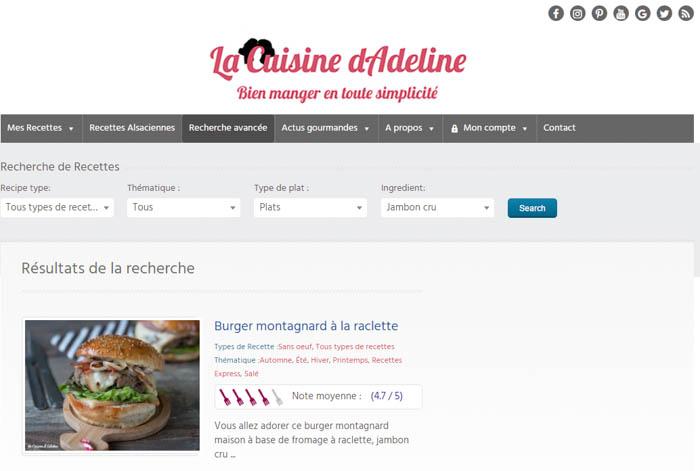 Recherche avancée - La Cuisine d'Adeline - Nouveautés 2017