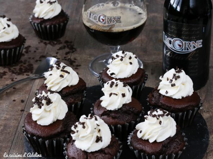 Cupcakes au chocolat et à la bière Licorne Black