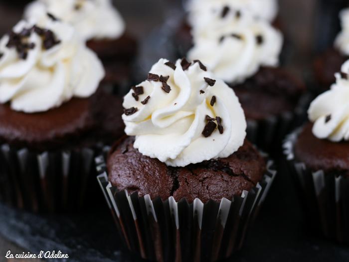 Cupcakes au chocolat et à la bière noire