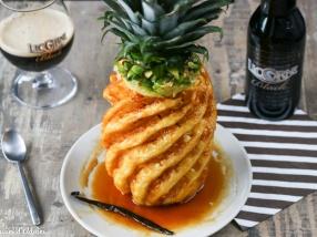 Ananas caramélisé à la bière recette