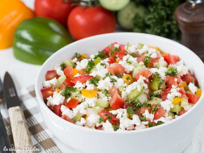 Salade chopska recette facile