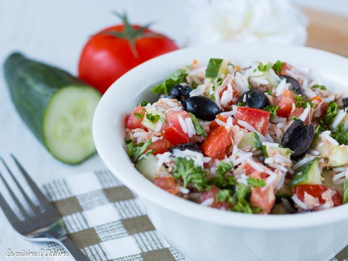 Salade de riz au thon recette rapide