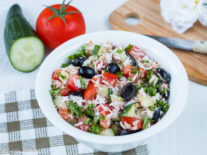 Salade de riz au thon recette