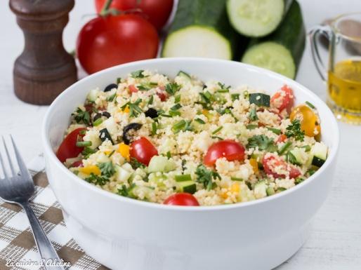 Taboulé aux légumes recette facile et rapide