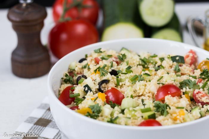 Taboulé aux légumes recette végétarienne