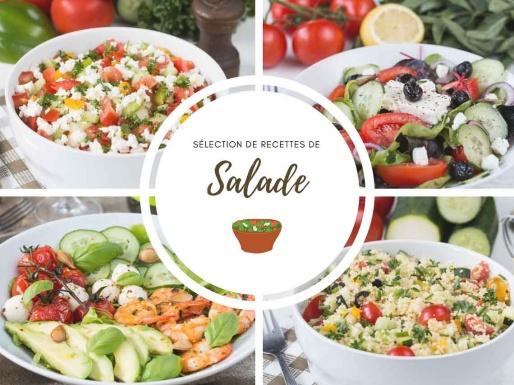 Salades composées sélection de recettes faciles et rapides