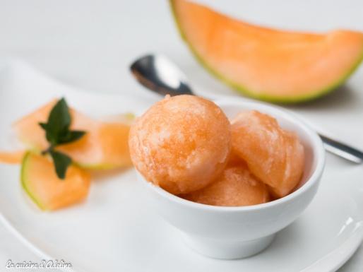 Sorbet melon recette avec ou sans sorbetière