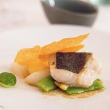 Merlu de ligne sabayon primeur quinoa - Restaurant Pyr Toulouse