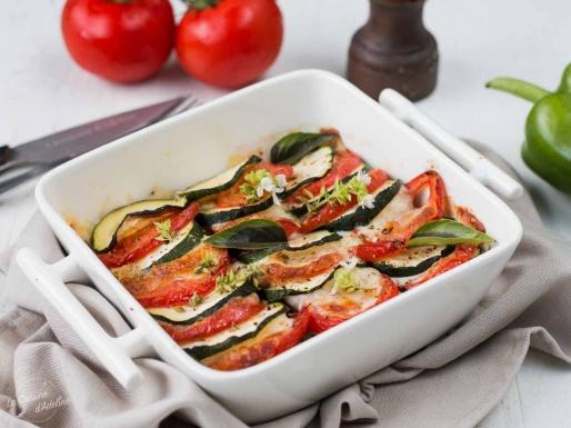 Gratin de légumes d'éte recette tomate courgette