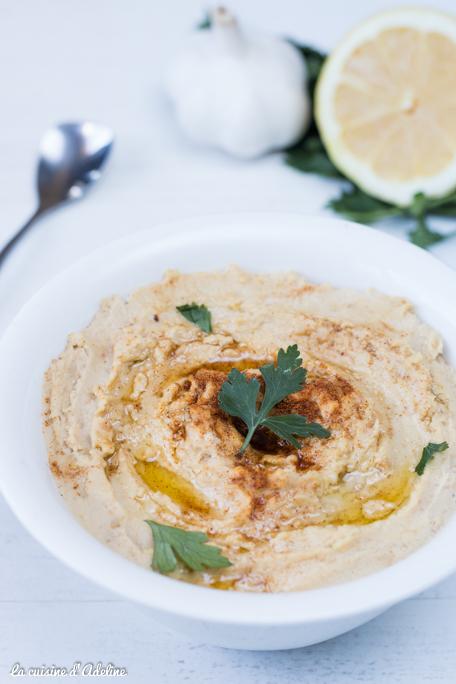 Houmous recette végétarienne pour l'apéritif