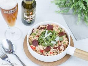 Risotto au chorizo et à la bière recette