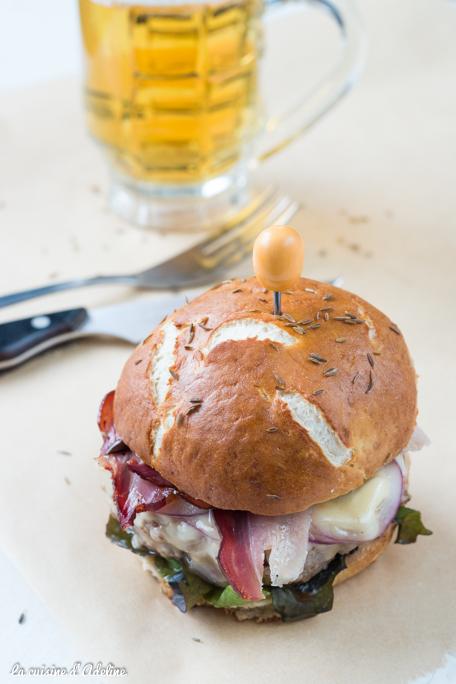 Burger Alsacien et son pain bretzel