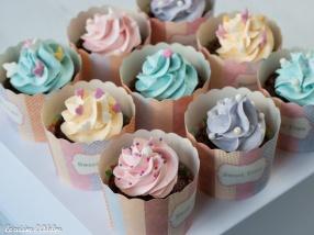 Cupcakes chocolat aux couleurs des princesses Disney