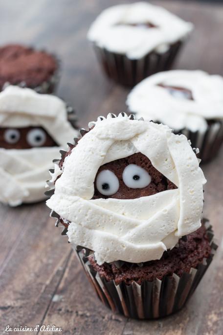 Cupcakes momie - Recette Halloween facile
