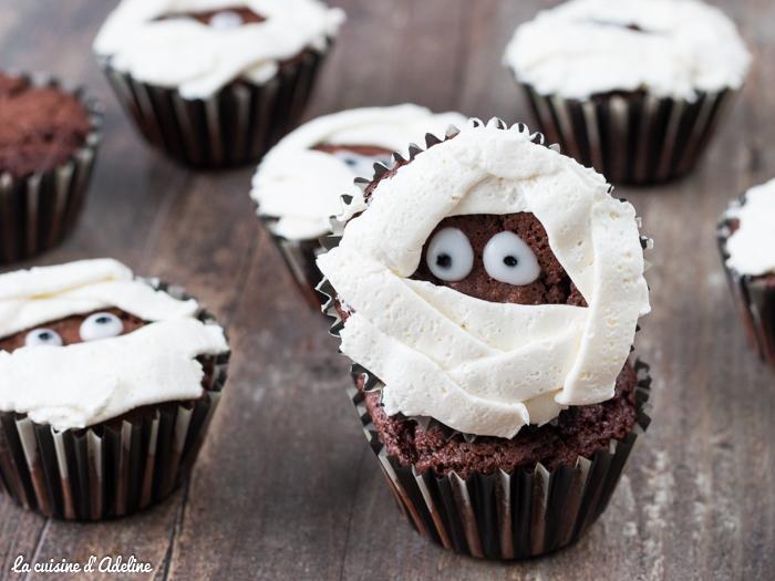 Cupcakes momie - Recette Halloween