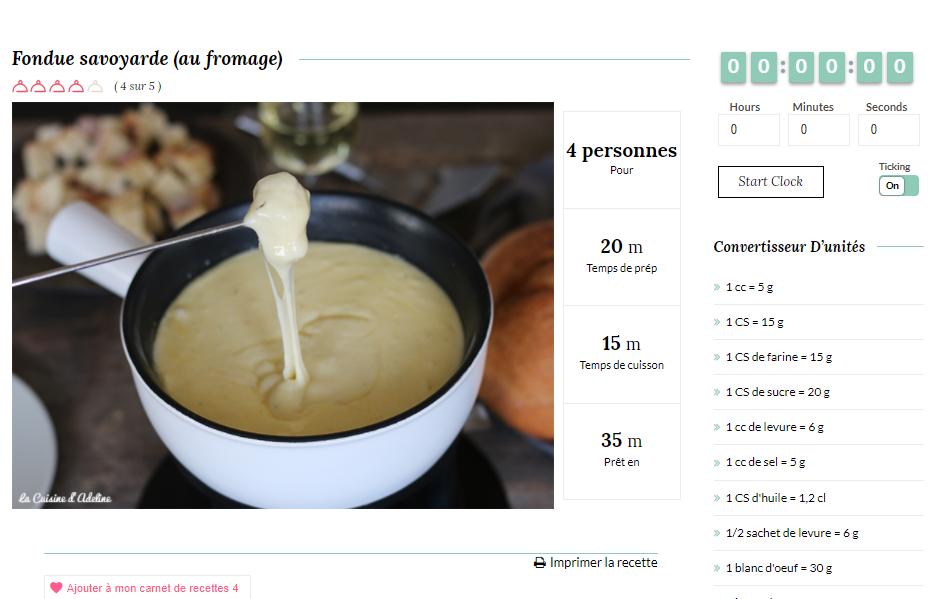 Exemple recette - La cuisine d'Adeline