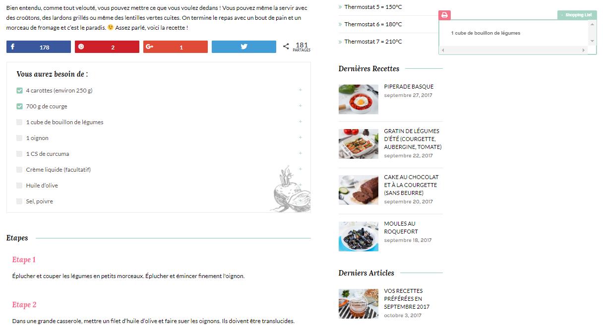 Shopping list - La cuisine d'Adeline