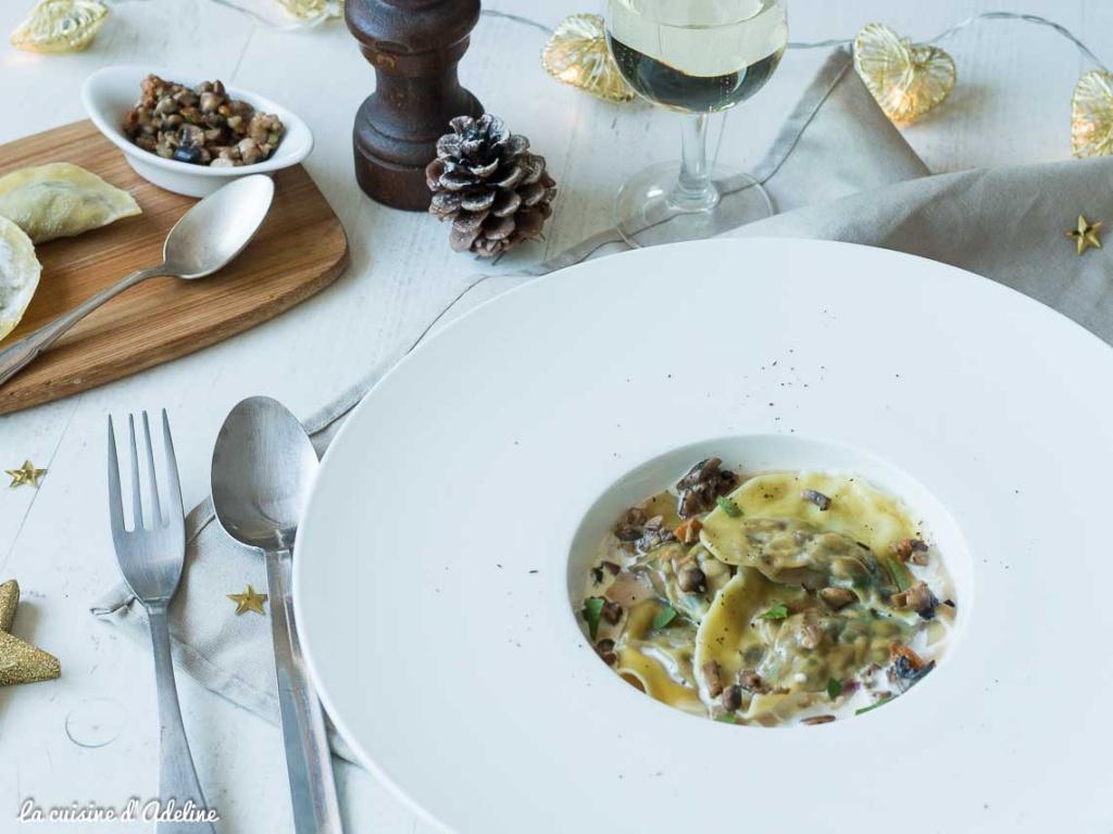 Ravioles aux champignons recette de Noël