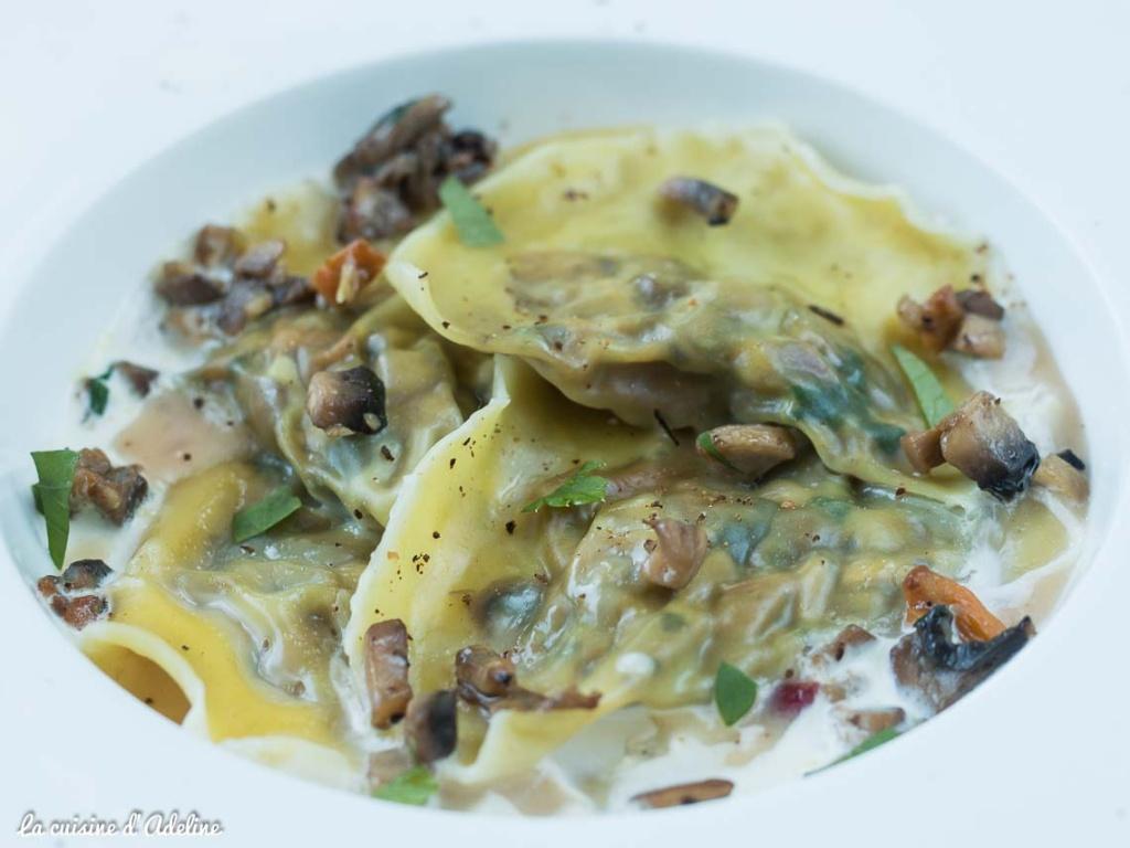 Ravioles aux champignons recette végétarienne