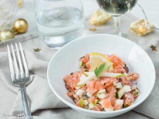 Tartare de saumon aux pommes recette rapide