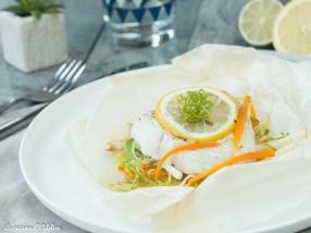 Papillote de cabillaud aux légumes et citron recette