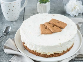 Cheesecake poires spéculoos recette facile
