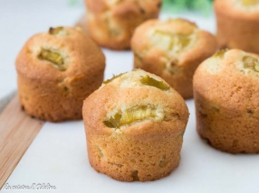 Muffins à la rhubarbe recette