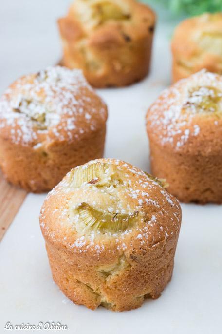 Muffins à la rhubarbe recette facile