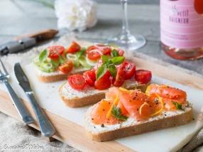 Bruschetta au saumon fumé recette facile