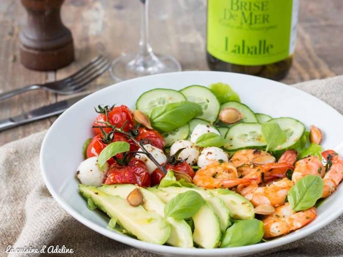 Salade avocat crevettes tomate et concombre recette