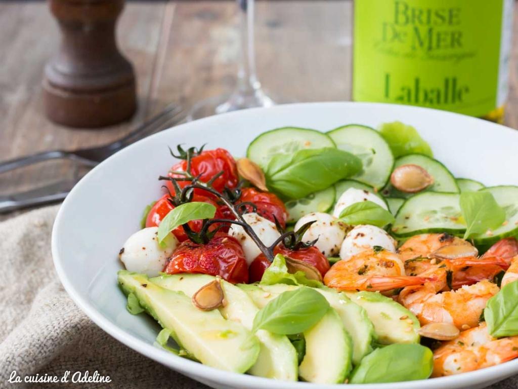 Salade avocat crevettes tomate et concombre recette facile