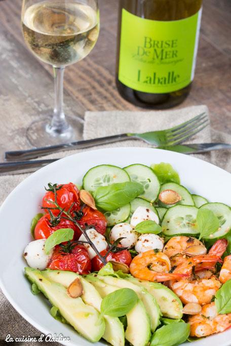 Salade avocat crevettes tomate et concombre recette salade