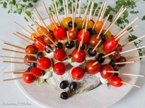 Hérisson apéritif et brochettes de légumes recette