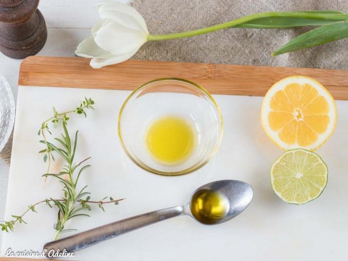 Marinade au citron thym romarin