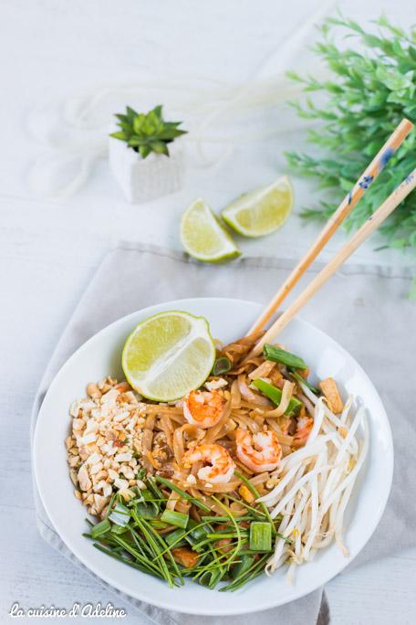 Pad thai aux crevettes recette thailandaise