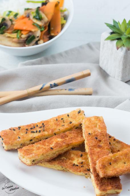 Tofu pané recette végétarienne