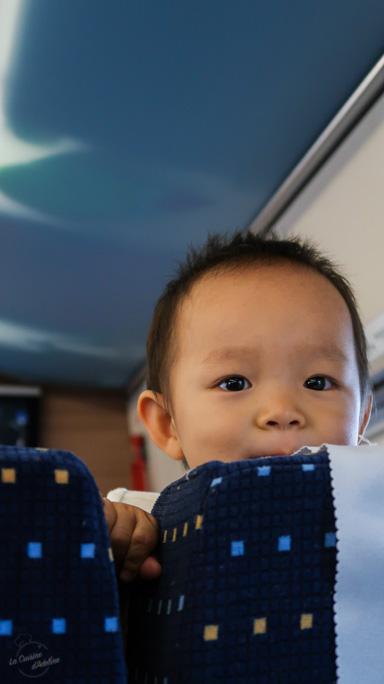 Train Kunming Pékin enfant