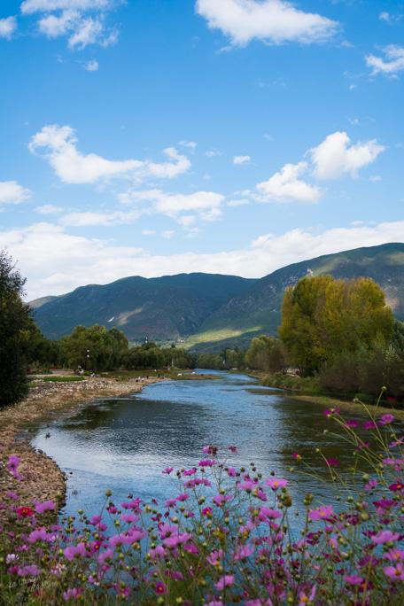 Shaxi rivière et montagne