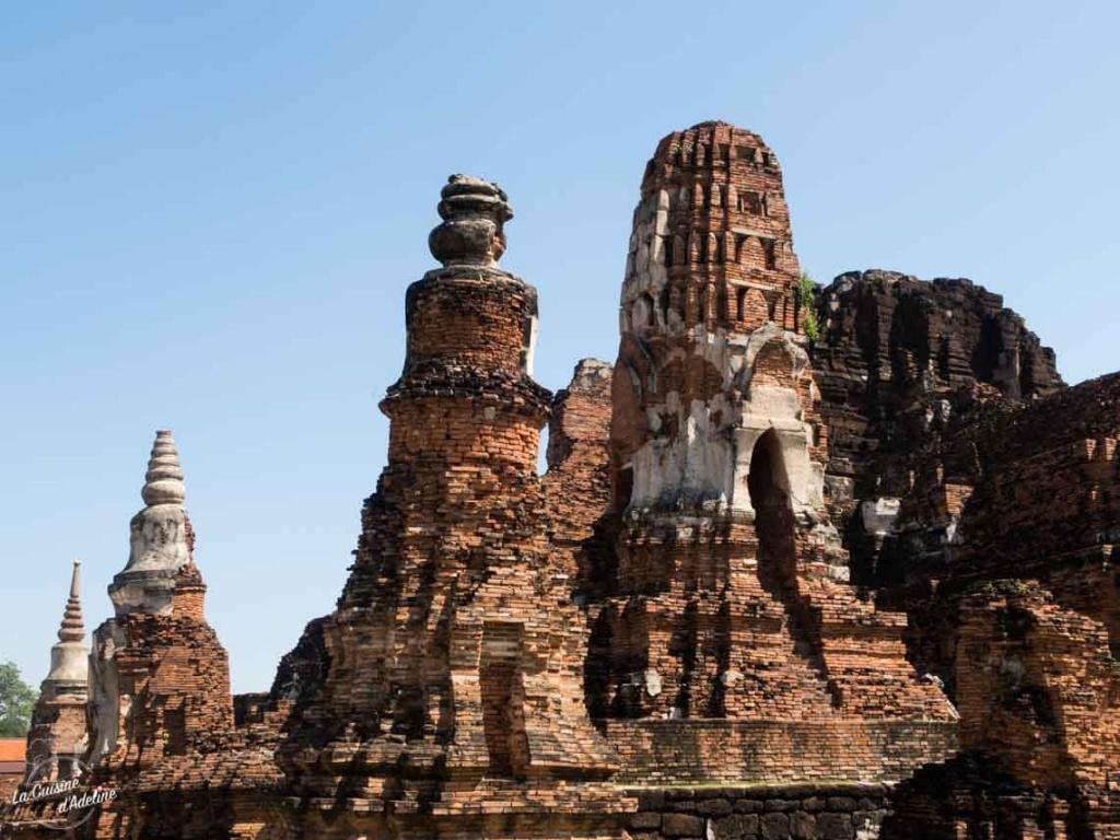 Temples et ruines Ayutthaya Thailande