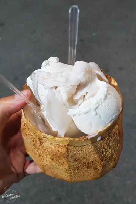 Glace noix de coco naturelle Thailande