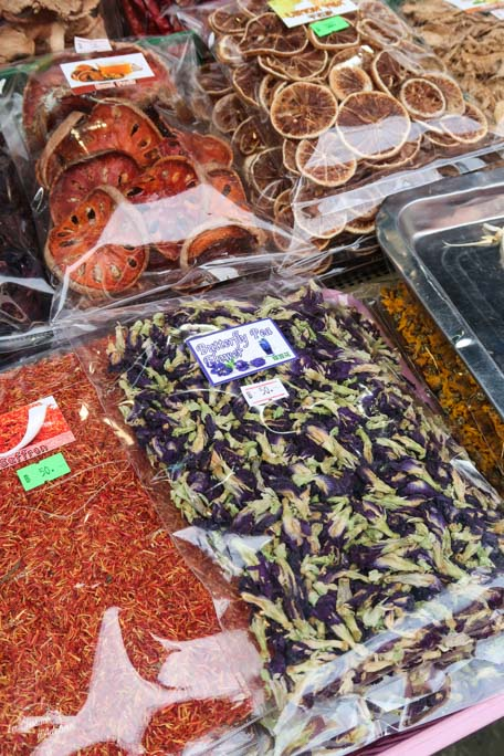 Sticky rice bleu - Cours de cuisine Chiang Mai