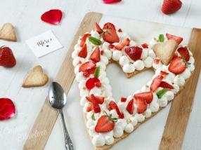 Love cake aux fraises et chantilly recette facile