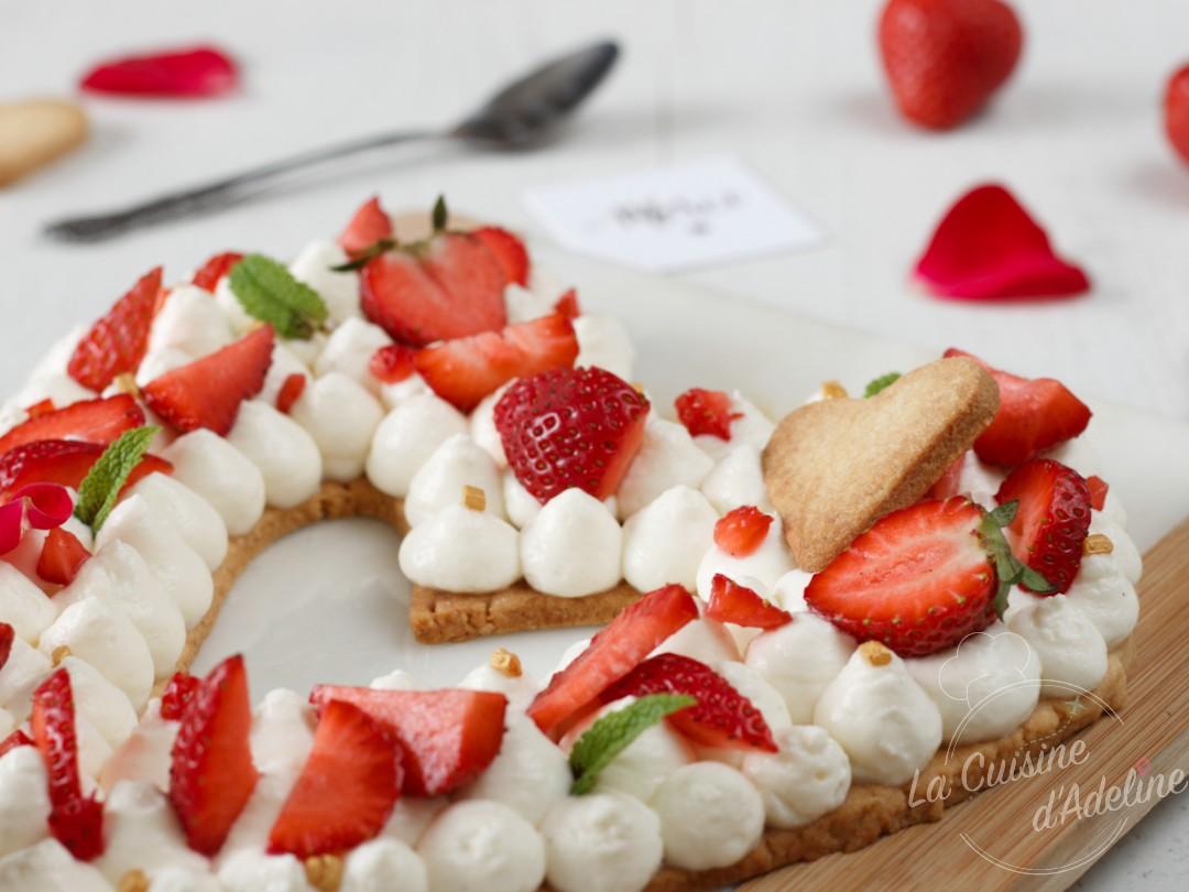 Love cake aux fraises et mascarpone recette