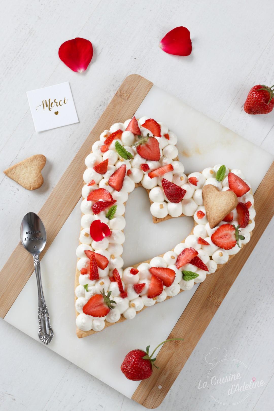 Love cake aux fraises recette fête des mères