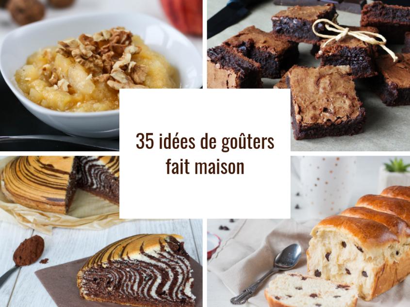 35 recettes de goûters fait maison